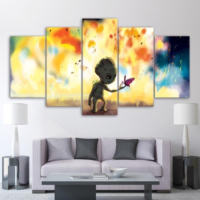 5 Schilderen Voor Woonkamer Muur Art Baby Groot Schilderen ...