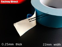 0 25mm Thick 22mm 25M Two Sides Adhesive Thermal Conductive Transfer Tape For LED Lighting
