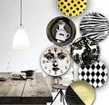 Черная  белая  серая декоративная подвесная тарелка  Скандинавская керамическая тарелка  подвесная настенная тарелка  украшение для рестор...