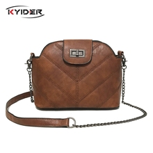 цена KYIDER Fashion Shell Shoulder Bag Chain Strap Women Messenger Bags Crossbody High Quality PU Leather Ladies Handbag Women Bag в интернет-магазинах