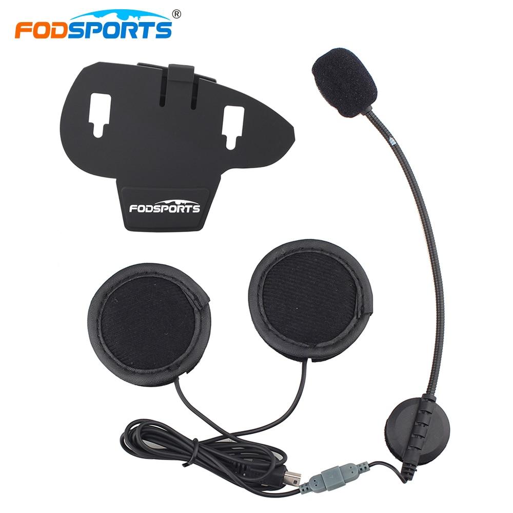 Fodsports V8 Pro Intercom Zubehör Kopfhörer mit Clip Helm Headsets ...