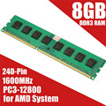 Новый 8 ГБ DDR3 PC3-12800 1600 МГц Настольных ПК DIMM Памяти RAM 240 Pins Non-EC Для AMD система Высокое Качество