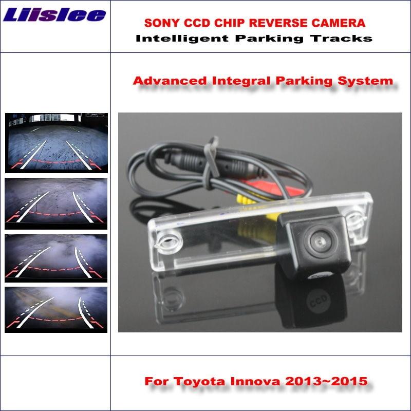Liislee HD SONY Car Rear Camera For Toyota Innova 2013~2015 Intelligent Parking Tracks Reverse Back / NTSC RCA AUX 580 TV Lines цена 2017