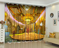3D Curtains Style of India's Magnificent Hall Sunshade Curtains Polyester Curtian Living Room Bedroom