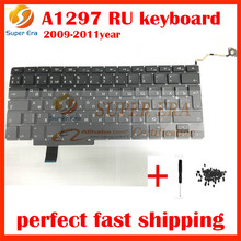 """original new for macbook pro 17"""" A1297 RU keyboard Russian Russia keyboard clavier without backlight backlit 2009 2010 2011year"""