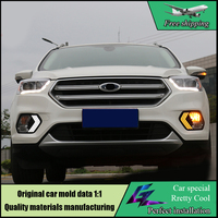Car styling LED Daytime Running Light For Ford Escape 2017 Kuga Car Accessories Waterproof 12V DRL Fog Lamp Decoration