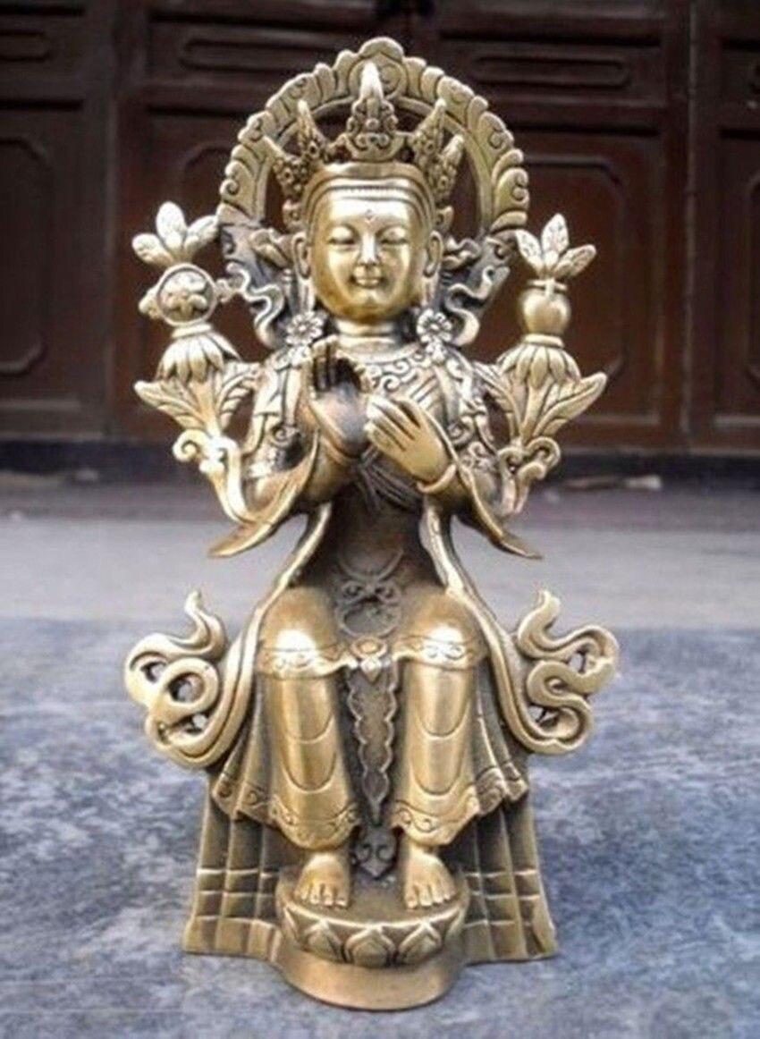 티베트 티베트 불교 maitreya 청동 불상-에서동상 & 조각품부터 홈 & 가든 의  그룹 1