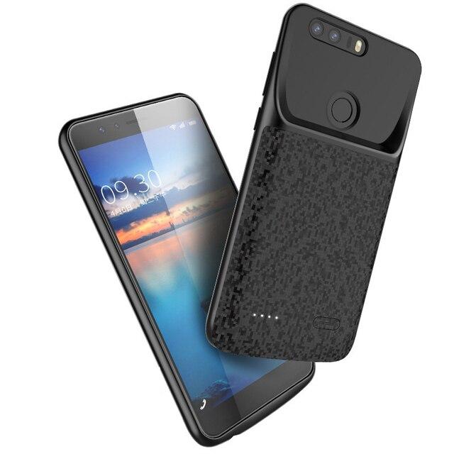 Silm silikon darbeye dayanıklı pil kılıf için Huawei onur 8 Lite 7X 8X güç banka şarj cihazı için arka kapak kılıfları huawei onur 9