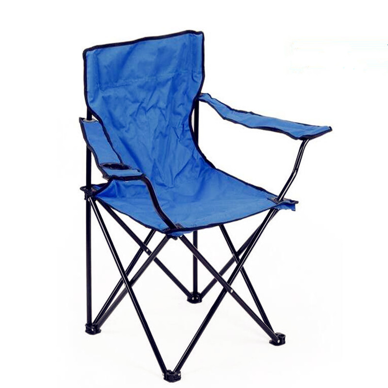 все цены на 2017 New Rushed Furniture Stool Cadeira Dobravel Outdoor Large Armrest Metal folding Chairs Casual Portable Beach Chairs онлайн