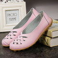New Fashion PU Leather Woman Flats 2017 Spring Moccasins Comfortable Casual Shoes Cut-outs Leisure Flat Shoes SST181