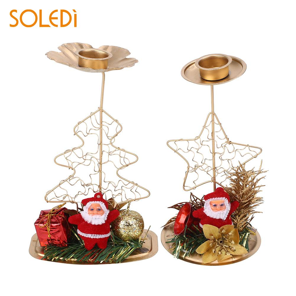 Candle Holder Candlesticks Ornament Wedding Iron Christmas Tree ...