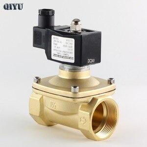 Image 1 - AC110V/220 V/380 V, DC12V/24 V, normalnie zamknięty zawór elektromagnetyczny wody, mosiężne zawory powietrzne DN10 DN15 DN20 DN25 DN32 DN40 DN50