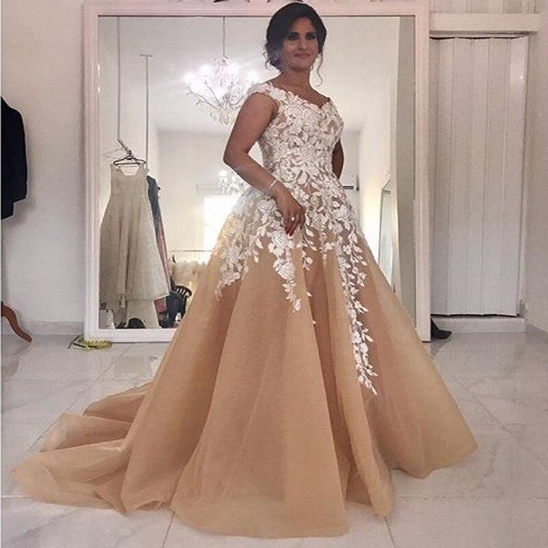 Robes de soirée de grande taille robes de soirée abendkleider longue robe de soirée de bal appliques robes de soirée personnalisées à lacets abiye