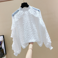 2019 New Arrival Long sleeved Blouses with Ruffles High Neck Beautiful Blouse Women's Shirts Spring