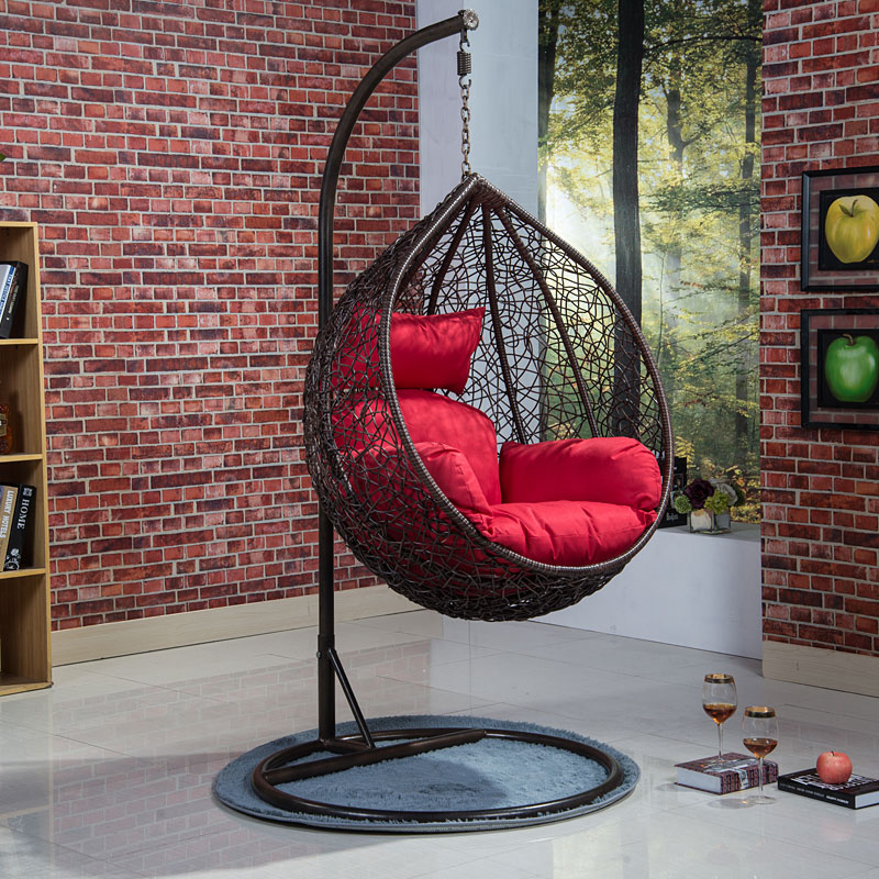 Adult basket downstairs balcony bedroom rocking chair - Hanging chair living room ...
