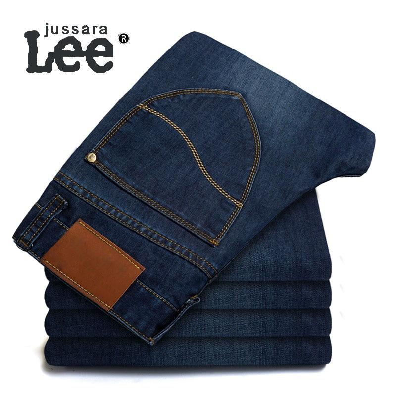 2016 Men's Jeans Denim Leisure Brand Standard Straight Cylinder Washing Zipper