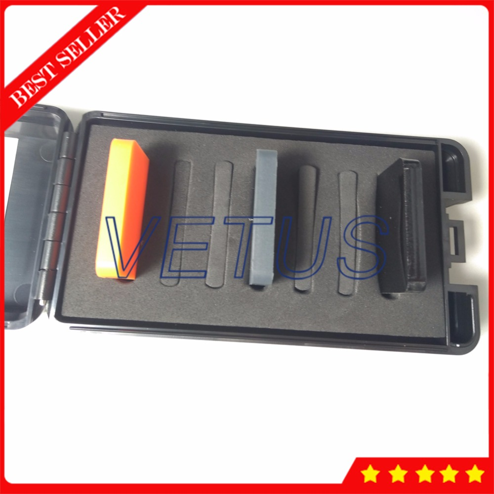 D Type Hardness Test Block for hard rubber and plastics measurement Shore D Durometer Three Color Block Test Block Kit free shipping sop32 wide body test seat ots 32 1 27 16 soic32 burn block programming block adapter