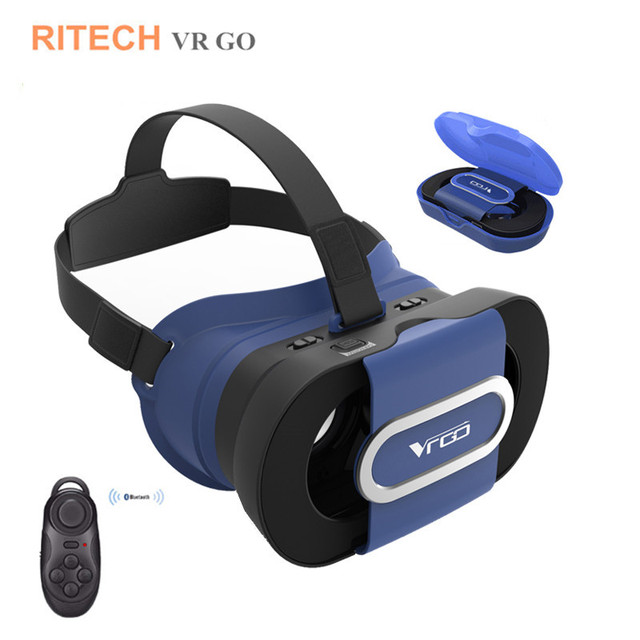 24212ed933ad RITECH VR GO Mini Folding 3 D Video VR Glasses Box 3D Helmet Virtual  Reality Goggles