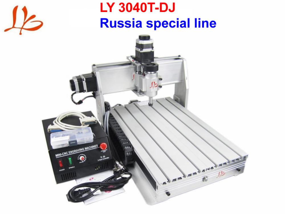 No Tax to Russia LY 3040T-DJ 3 Axis CNC Machine Engraving Router with 230W DC Spindle Trapezoid Screw high quality 3040 cnc router engraver engraving machine frame no tax to eu