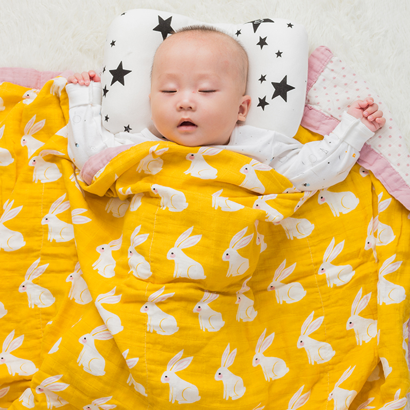 Baby Wrap Organic cotton blanket Multifunctional 2 layer Muslin Baby Newborns Blanket Baby Swaddle Blanket 120
