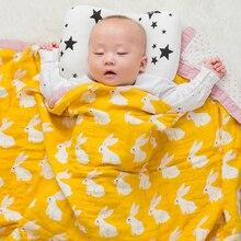 Детские Обёрточная бумага органический хлопок Одеяло многофункциональный 2 слоя муслин детские новорожденных Одеяло ребенка пеленать Одеяло 120*120 см