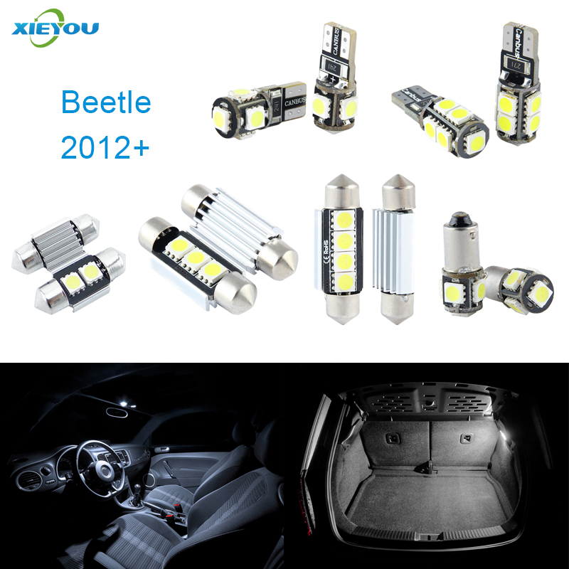 XIEYOU 3pcs LED Canbus Interior Lights Kit Package Para Beetle (2012+)