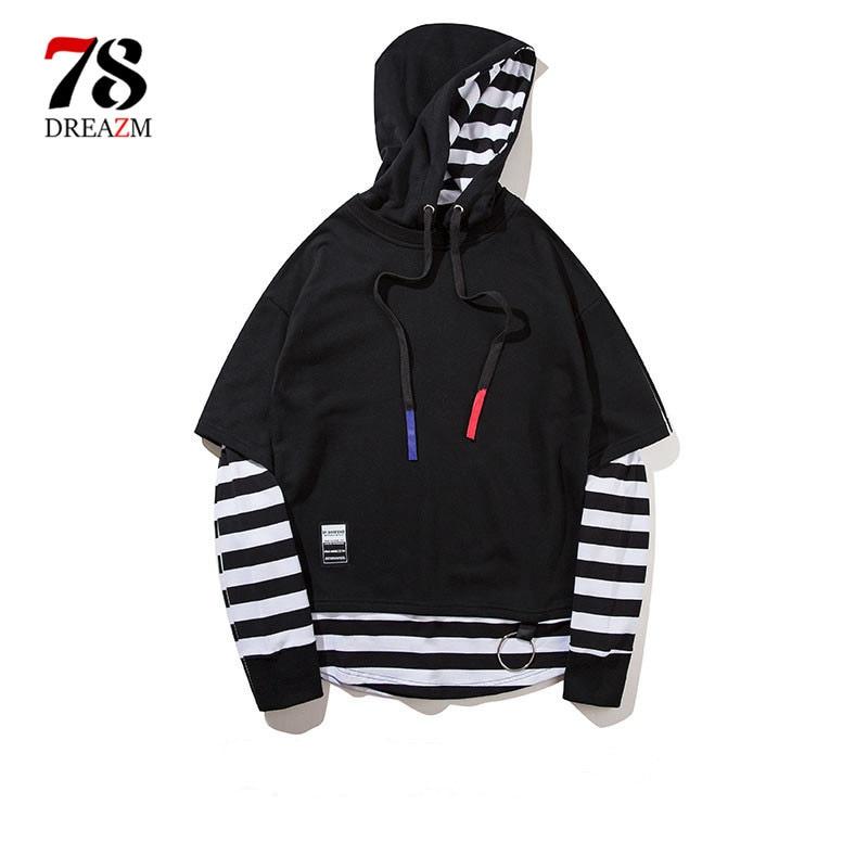 2018 Fashion Hoodies Men Thick Hooded Sweatshirts hip hop spring Sportswear Hip Hop Streetwear Pullover Tracksuit