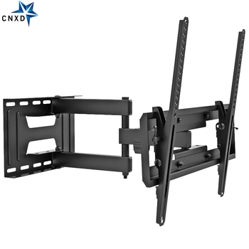 "Soporte de montaje en pared para TV de movimiento completo con doble brazo articulado inclinación giratoria para soportes LED LCD de 23-65"" para 77lbs Max VESA 400x400mm"
