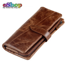 Original JINBAOLAI Genuine Leather Wallet Men High Quality Fashion Clutch Bag Men Purse Leather Cell Phone Wallet For Men