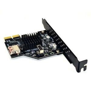 Image 4 - Dodać na karty Pci Express 3.0 Usb 3.1 karta Pci E Pcie Usb Adapter hodowca typu E Usb3.1 Gen2 10 gb/s + Usb2.0 karta rozszerzeń