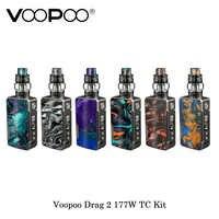 Stock Voopoo Drag 2 Platinum 177W zestaw tc elektroniczny papieros z Uforce T2 zasilany przez podwójny 18650 vape parownik VS Shogun/X217