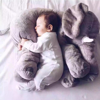 40cm/60cm/80cm Plush Elephant Doll Toy Kids Sleeping Back Cushion Cute Stuffed Baby Accompany Christmas Gift