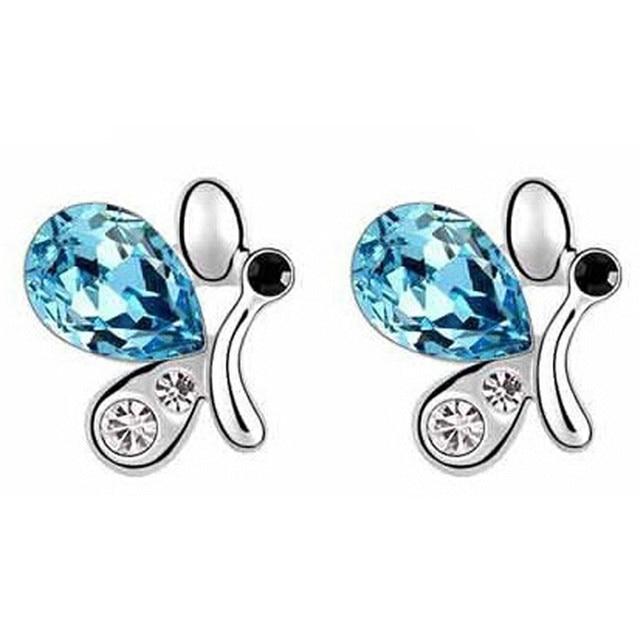 Sales 2018 New Butterfly Jewelry Sets Necklace + Earring+Bracelet Crystal Set Fashion Jewelry 1