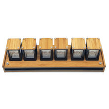 الإبداعية RGB LED 6 بت توهج ساعة رقمية Nixie أنبوب ساعة عدة لتقوم بها بنفسك الإلكترونية الرجعية ساعة مكتب ساعة توقيت الجدول الديك