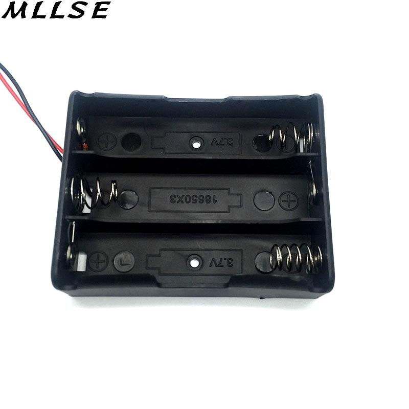 Mllse 18650 Батарея держатель с Провода привести черный Цвет Пластик 3.7 В клип 18650 Ящики для хранения батарей для 3X18650 Батареи