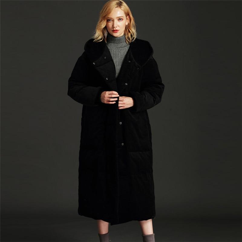 Mode Nouveau Survêtement gray Yy145 Lâche De Super Grand Black Veste Femme Épais Xs Colour Bas Vers Manteau 5xl 2018 Femmes Droite caramel Le Long Hiver 7vRqTS