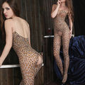 Super Sexy Leopard Open Crotch Lingerie Unique Crotchless Body Stockings New