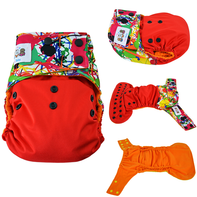 JinoBaby Cloth Nappy Eco Friendly Orange Inner Cloth Diapers Training Pants for nb to 15kgs with