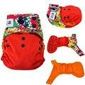 Respetuoso del medio ambiente del panal del paño jinobaby orange pantalones de entrenamiento pañales de tela interior para nb a 15kgs (con inserto impermeable)