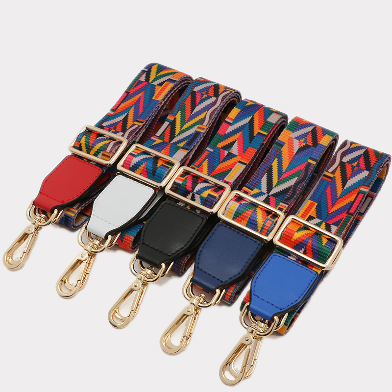 1 Pc Strap You Patchwork Women Bag Strap Couple Handbagstrap Woven National Stylish Design Rainbow Color Bag Acessories ...