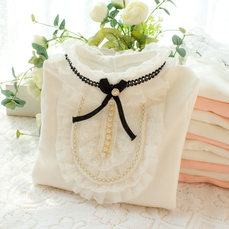 HTB1zMe8NpXXXXc.XFXXq6xXFXXX1 - 2017 Autumn Girls Turtleneck T-Shirt Cotton Children White Pink Shirts Baby Girls Clothing Long Sleeve Bottom Tops For Kids