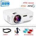 Aun am01 1400lm llevó el proyector 800x480 píxeles con av/Audio/HDMI/VGA/USB/SD Ranura Para Tarjeta de Vídeo de Cine En Casa Beamer