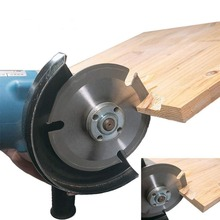 """HS Tools 3 Teeth 5"""" Wood Carving Wheel Power Tool Angle Grinder Attachments Circular Saw Blade Log Grinder Disc Wood Cutting"""