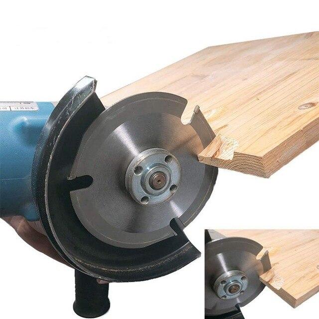 """HS Werkzeuge 3 Zähne 5 """"Holz Carving Rad Power Werkzeug Winkel Grinder Anhänge Kreissäge Klinge Log Grinder Disc holz Schneiden"""