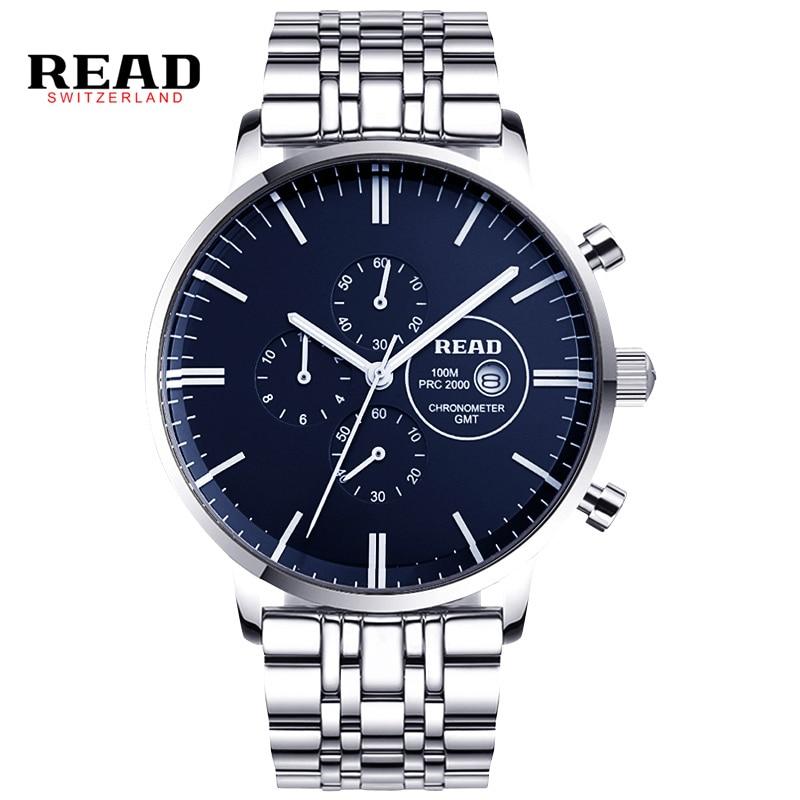 READ watches Mens Watch Chronograph Mens Fashion multifunctional quartz watch R7006 charles hubert paris mens quartz watch 3771 b