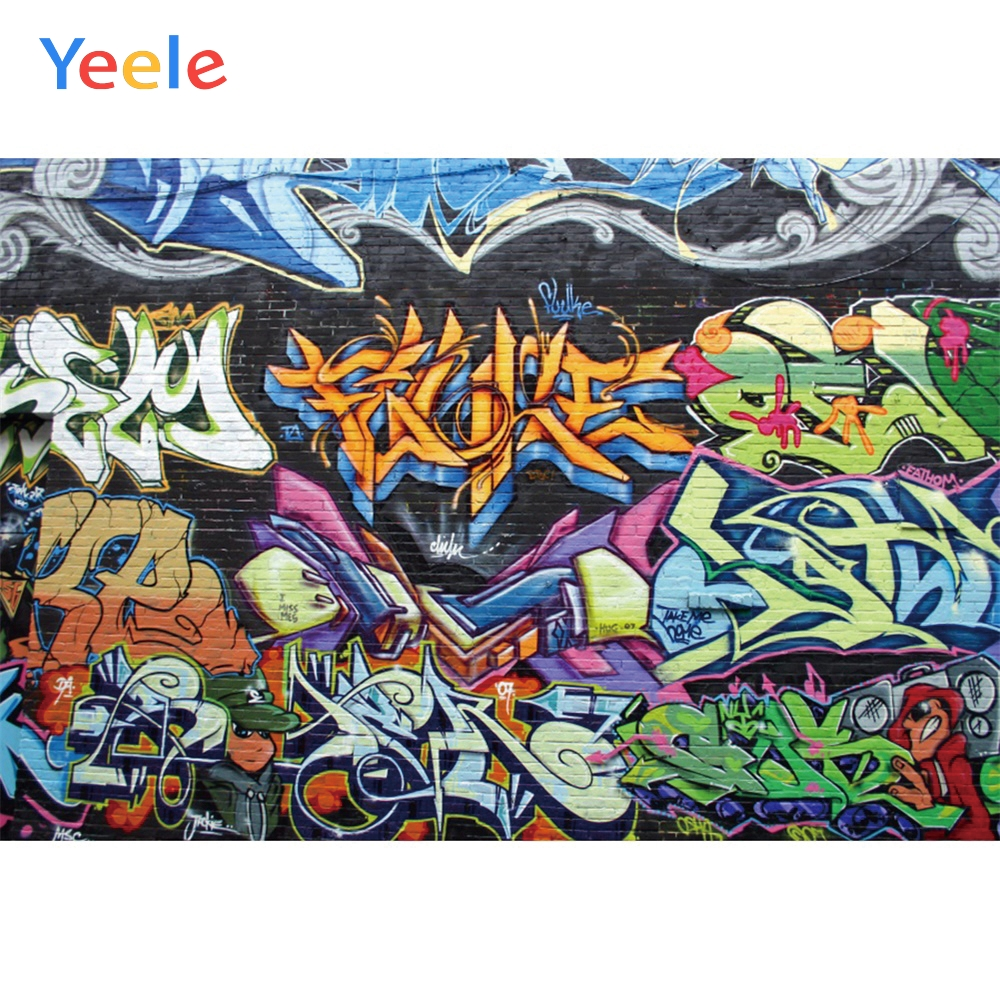 Yeele Abstract Graffiti Brick Wall Grunge Children Personalized Photographic Backdrops Photography Backgrounds For Photo Studio