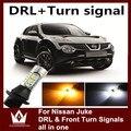 Senhor noite Para Nissan Juke BAU15S PY21W DRL Daytime Running Light & Frente Sinais de Volta tudo em um