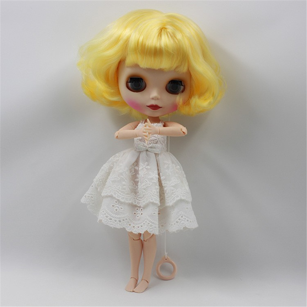 Free shipping cost Nude blyth Doll curly hair Factory doll