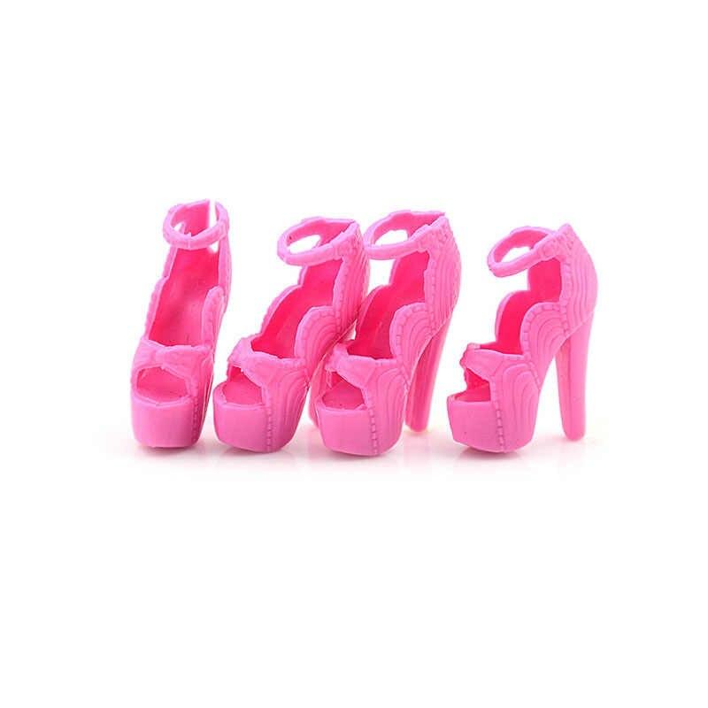 1 זוג נעליים באיכות גבוהה צבעונית העקב סנדלי עבור בובת בגדי שמלת DIY אביזרי ילדי מתנת צעצועים