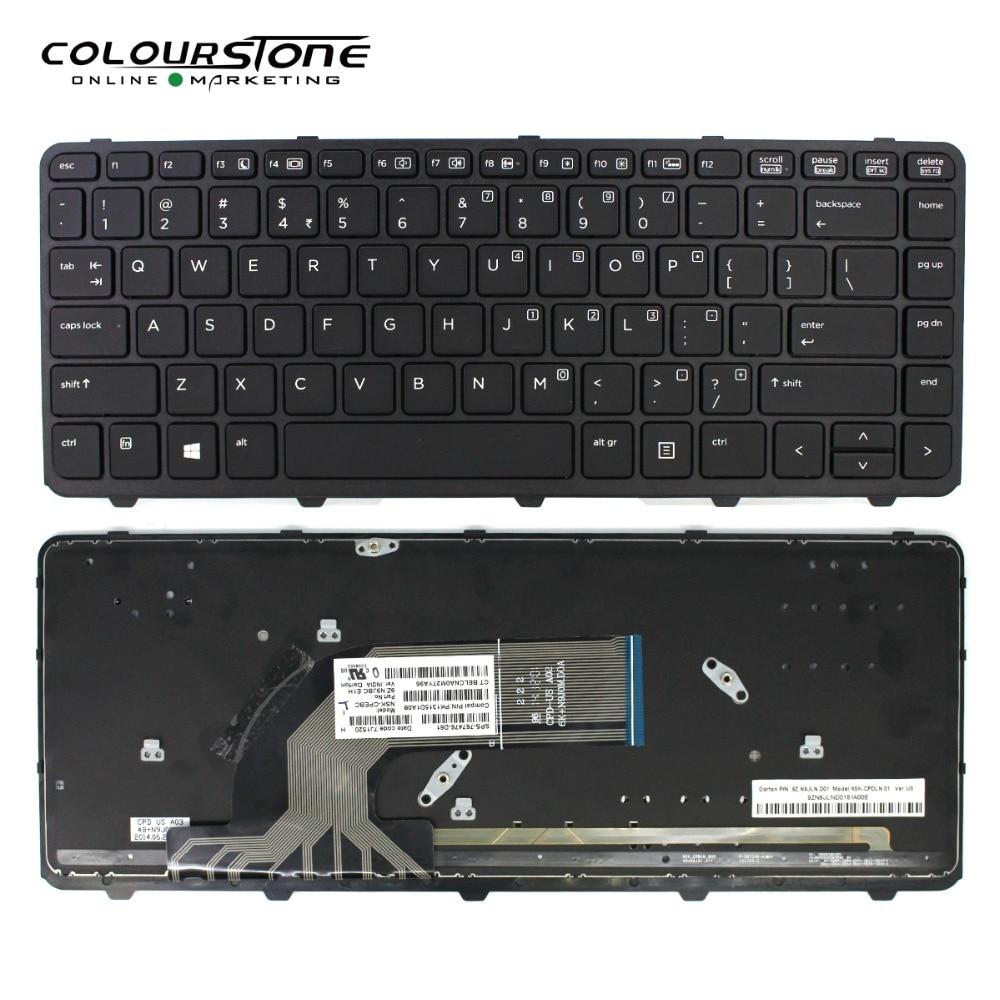 New black US backlit keyboard fit HP ProBook 5330m With Frame